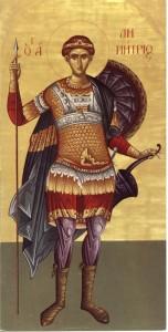 Святой великомученик Димитрий Солунский мироточивый
