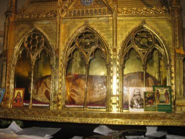 Мощи св.равноапостольной царицы Елены (церковь в Сен-Лё-Сен-Жиль в Париже)
