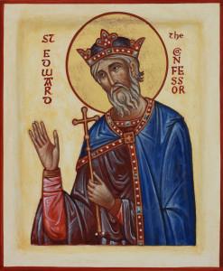Св. Эдуард Исповедник. Миниатюра из Молитвенника Литлингтона. 1383–1384 гг. (Вестминстерское аббатство, Лондон)