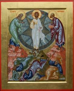Греческая икона Преображения Господня