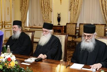 Встреча Святейшего Патриарха Кирилла с членами Комиссии по подготовке празднования 1000-летия русского монашеского присутствия на Святой Горе Афон