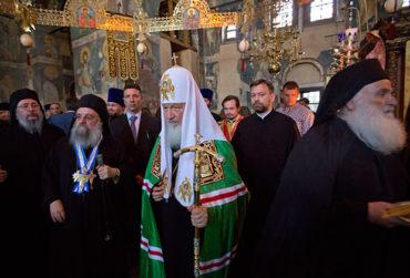 Предстоятель РПЦ посетил Священный Кинот Святой Горы