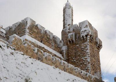 Иерусалим в снегу -  завораживающее зрелище