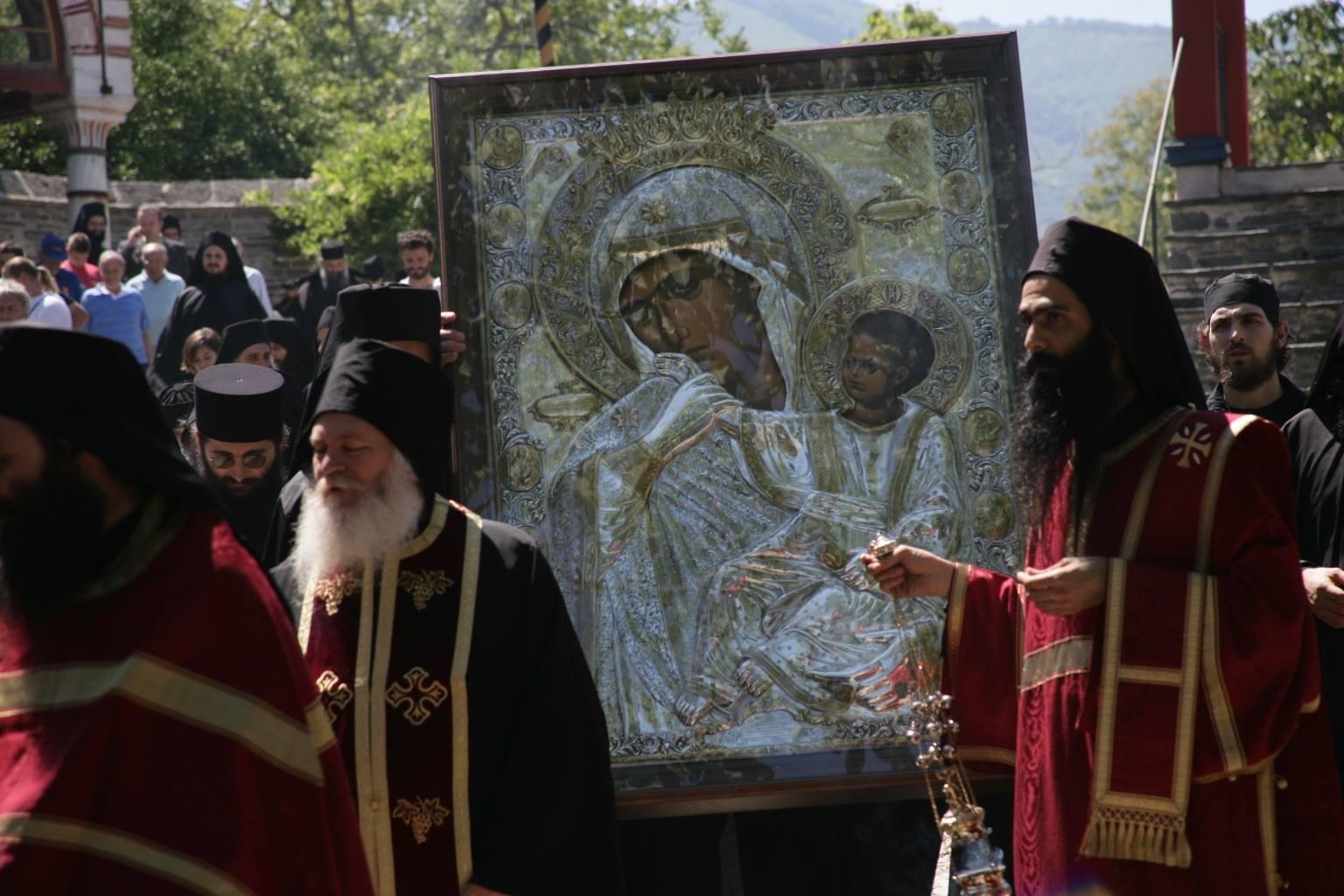 Икона Божией Матери «Отрада» или «Утешение» (Парамифия), Ватопедская