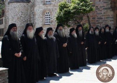 Святейший Патриарх Московский и всея Руси Кирилл посетил Священный Кинот Святой Горы