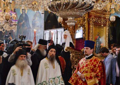 Приветствие Президента РФ В.В. Путина по окончании молебна в храме Успения Пресвятой Богородицы