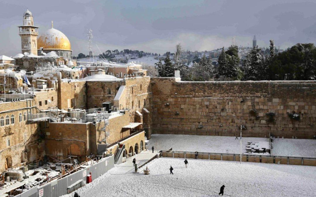 Иерусалим в снегу —  завораживающее зрелище
